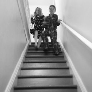 I make sure to get a shot of the kids running down the stairs every Christmas morning.